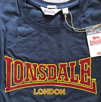 T-shirt LONSDALE LONDON CLASSIC Granatowa