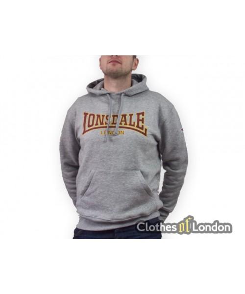 Bluza z kapturem Lonsdale London Classic Szara