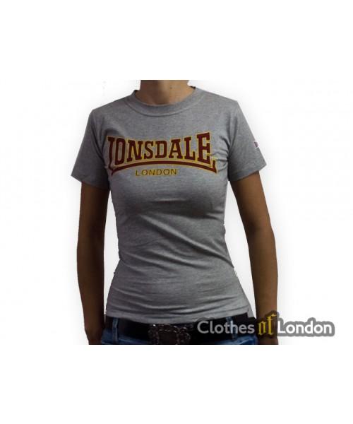 Koszulka damska Lonsdale London Classic Szara