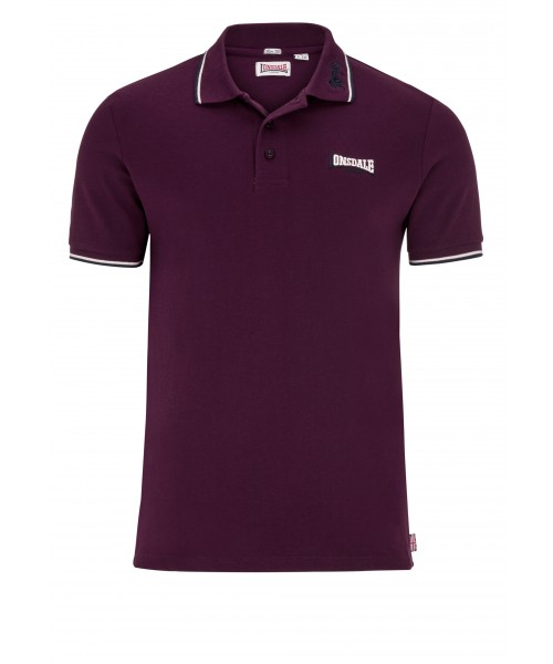 Koszulka Polo LONSDALE LONDON LION bordowa