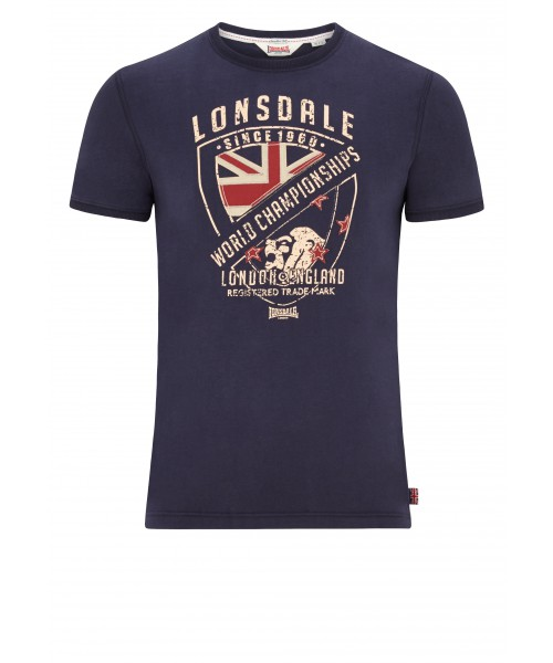 T-Shirt  LONSDALE LONDON SHORNE granatowy