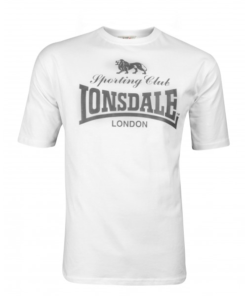 T-shirt LONSDALE LONDON SPORTING CLUB biały