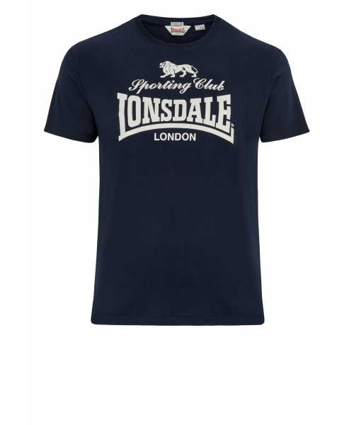 T-shirt LONSDALE LONDON SPORTING CLUB granatowy