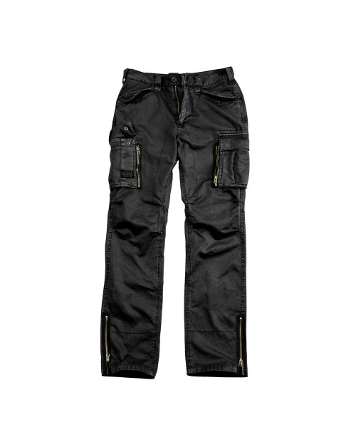 Spodnie bojówki ALPHA INDUSTRIES OVERLAND PANT VF czarne