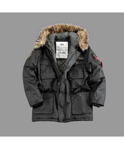 Kurtka ALPHA INDUSTRIES MOUNTAIN PARKA szara