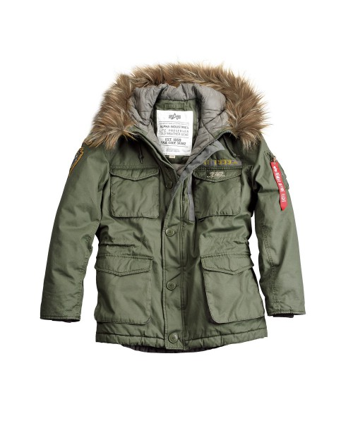 Kurtka ALPHA INDUSTRIES MOUNTAIN PARKA oliwkowa