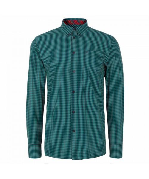 Koszula z długim rękawem Merc London Japster zielona