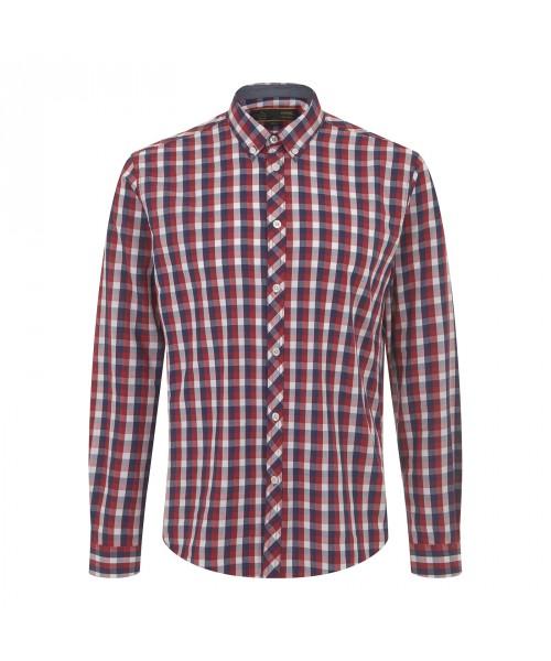 Koszula z dlugim rękawem MERC LONDON ARISTA czerwona