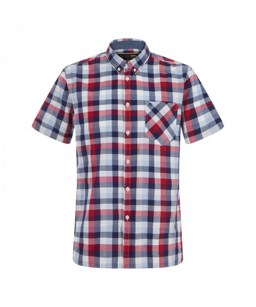 Koszula z krótkim rękawem MERC LONDON AVERY Czerwona