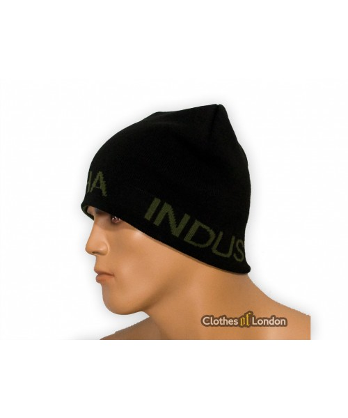 Dwustronna czapka zimowa Alpha Industries Revisble Czarno/oliwkowa