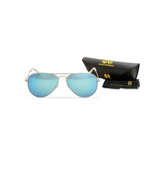 Okulary przeciwsłoneczne ALPHA INDUSTRIES TOP GUN M srebrno niebieskie