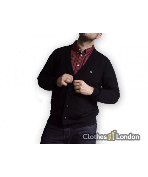 Sweter kardigan Merc London Harris Czarny