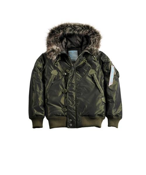 Damska  zimowa kurtka ALPHA INDUSTRIES ARCTIC JACKET WMN ciemniozielona