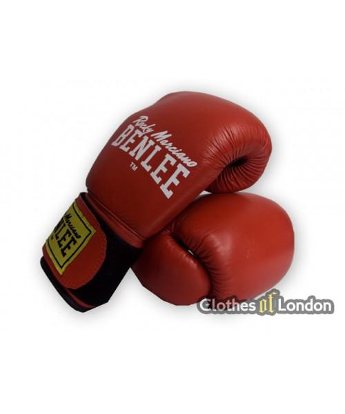 Skórzane rękawice bokserskie Ben Lee  Fighter Czerwone
