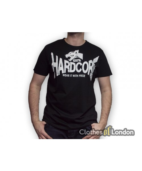 T-shirt 100% Hardcore Dog2 Czarne