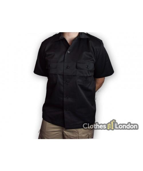 Koszula z krótkim rękawem Surplus US Army Military Czarna