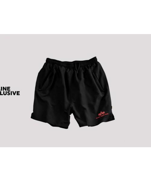 Szorty do pływania Alpha Industries Sport Swim Short czarne