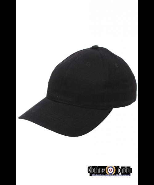 Bawełniana czapka z daszkiem BEJSBOLÓWKA MAX FUCHS Czarna