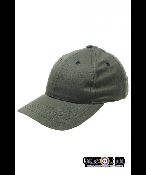Bawełniana czapka z daszkiem BEJSBOLÓWKA MAX FUCHS Oliwkowa