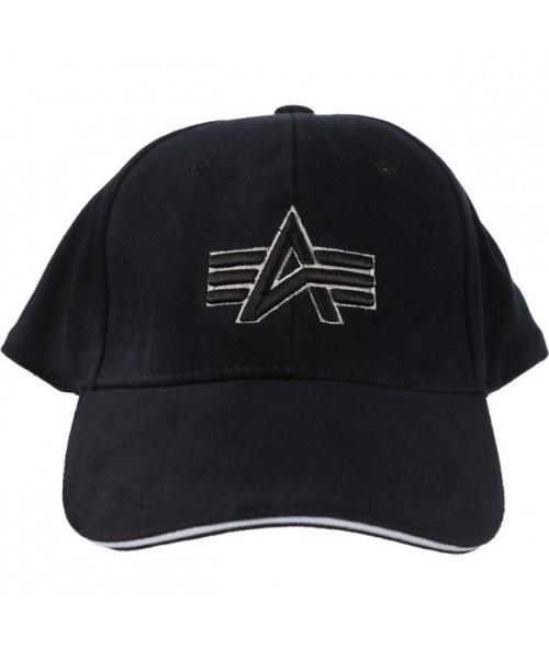 Czapka z daszkiem ALPHA INDUSTRIES BIG  A CAP  czarna