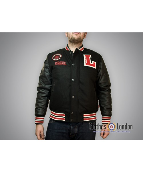 Kurtka Bejsbolówka Lonsdale London Baseball Jacket OXFORD Czarna