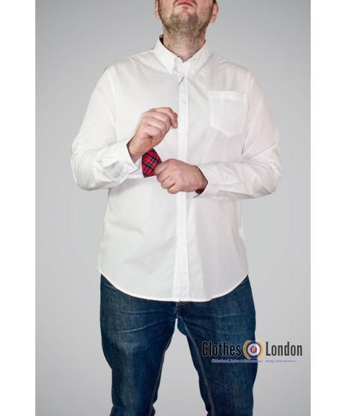 Koszula z dlugim rekawem Merc London Albin Biała