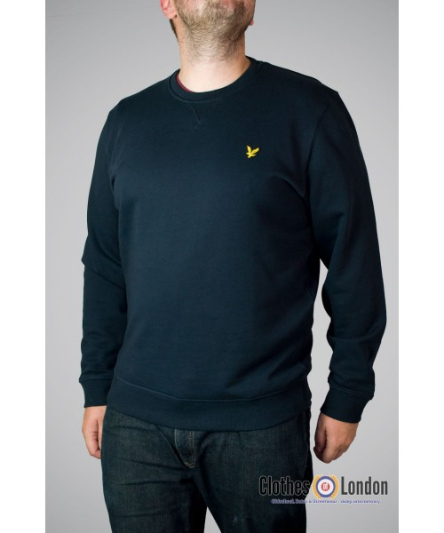Bluza Lyle & Scott Crew Neck Basic granatowa