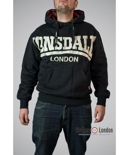 Bluza z kapturem Lonsdale London Whitechapel Czarna