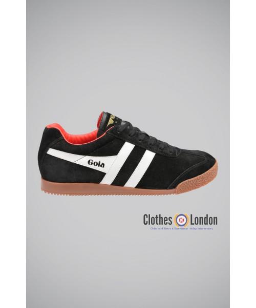 Zamszowe buty GOLA HARRIER CASUAL TRAINERS czarno- biało-czerwone
