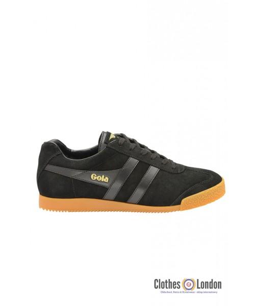 Zamszowe buty GOLA HARRIER CASUAL TRAINERS czarne