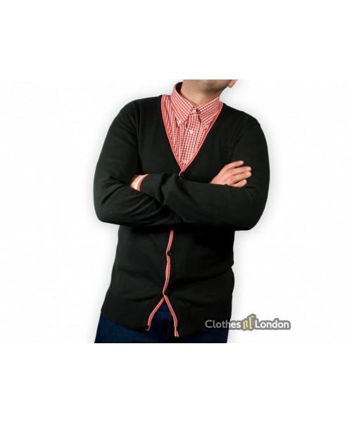 Czarny sweter kardigan Warrior Clothing Basic Czarny