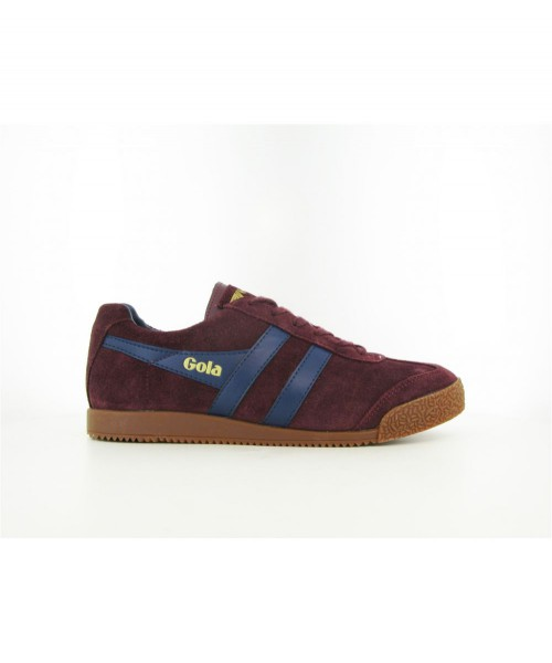 Zamszowe buty GOLA HARRIER CASUAL TRAINERS bordowe
