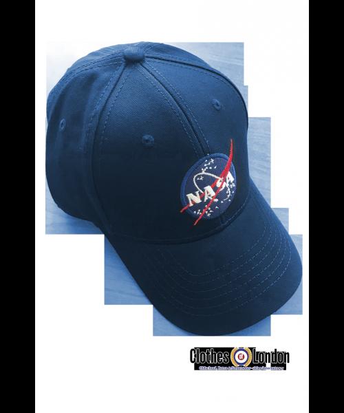 Czapka z daszkiem ALPHA INDUSTRIES NASA granatowa