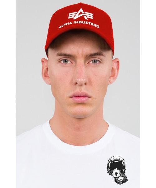 Czapka z daszkiem ALPHA INDUSTRIES TRUCKER czerwona