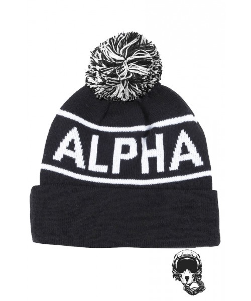 zapka zimowa ALPHA INDUSTRIES BLOCK BOBBLE Czarna