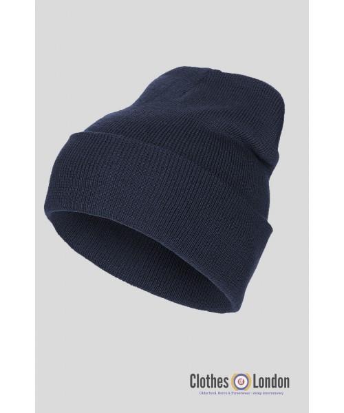 "Wełniana czapka zimowa ""Dokerka"" MAX FUCHS granatowa"