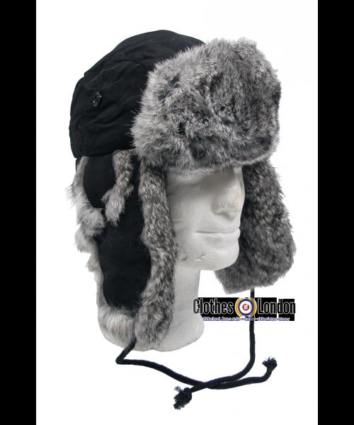 Czapka zimowa USZATKA MAX FUCHS czarna