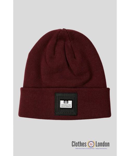Akrylowa czapka zimowa WEEKEND OFFENDER PEDAR bordowa