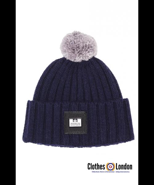 Wełniana czapka zimowa WEEKEND OFFENDER THORTON Granatowa