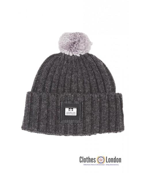 Wełniana czapka zimowa WEEKEND OFFENDER THORTON Szara