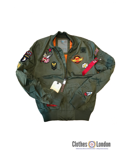 Damska kurtka ALPHA INDUSTRIES MA-1 TT PATCH oliwkowa