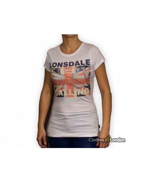 Damska koszulka Lonsdale London Addie Biała