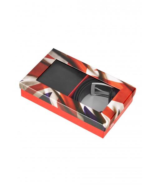 Zestaw portfel oraz pasek  LONSDALE LONDON  DERRY brązowy