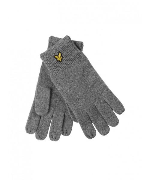 Wełniane rękawiczki LYLE&SCOTT RACKED szare