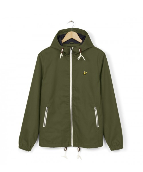 Kurtka LYLE & SCOTT HOODED TWILL JACKET oliwkowa