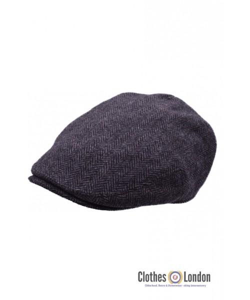 Kaszkiet HIGHLANDS EA TWEED FLAT CAP Szary
