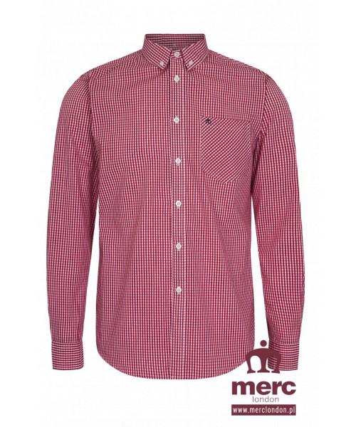 Koszula z długim rękawem MERC LONDON ELMSALL Czerwona