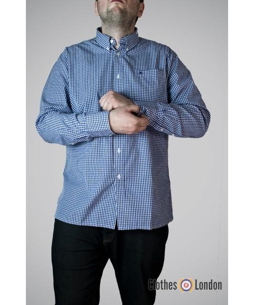 Koszula z długim rękawem Merc London Japster Niebieska