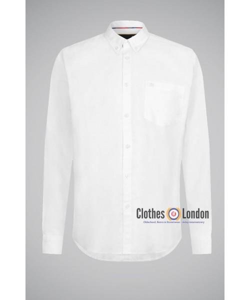 Koszula z długim rękawem MERC LONDON OVAL OXFORD Biała