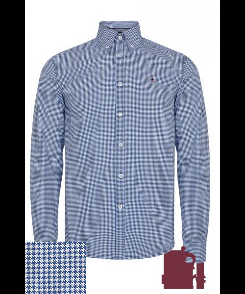 Koszula z długim rękawem MERC LONDON SHOOTER niebiesko-biala